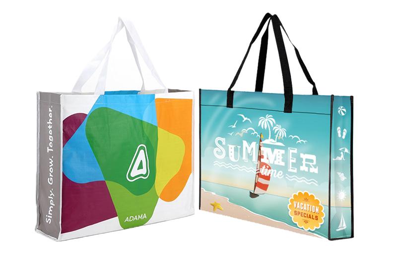 Túi siêu thị vải PP dệt thiết kế đẹp - công ty may túi siêu thị xuất khẩu