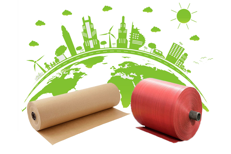 Vải PP dệt và giấy Kraft đều là những vật liệu thân thiện môi trường - màng ghép mcpp