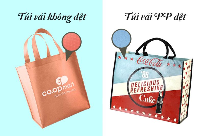 Túi siêu thị thường được làm từ chất vải PP dệt hoặc vải không dệt - tìm đối tác may túi siêu thị