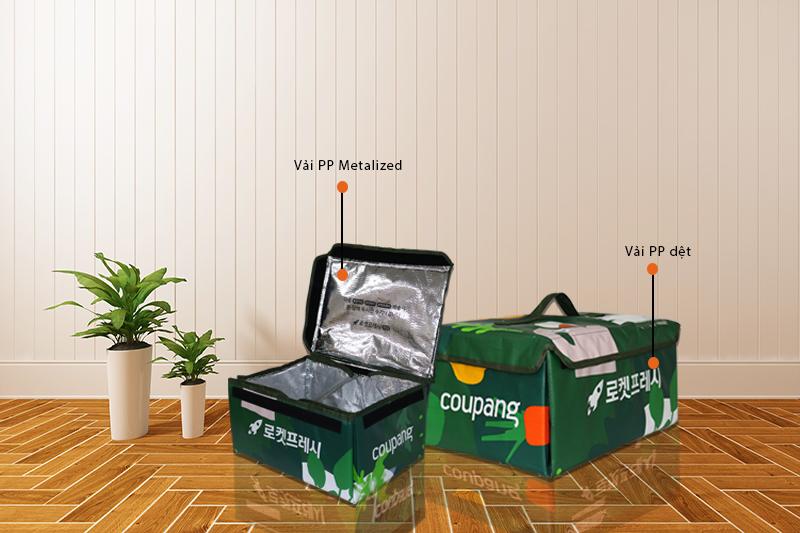 Mẫu túi giữ nhiệt giao hàng của Bao Bì Ánh Sáng - đồ đựng thức ăn giữ nhiệt