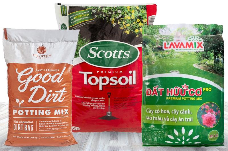 Nhiều thương hiệu đất sạch cạnh tranh trên thị trường - những loại bao bì đất sạch