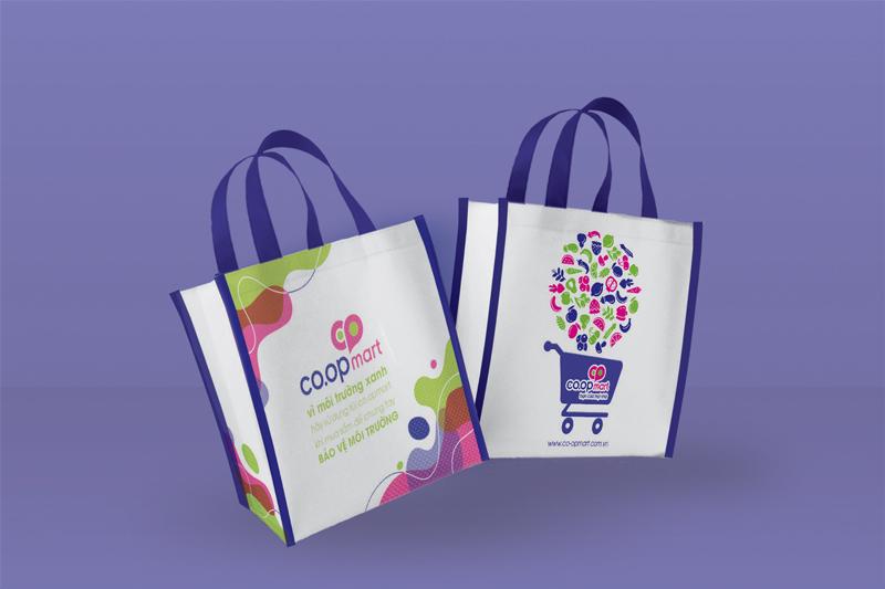 Thiết kế túi PP siêu thị mang nét riêng của thương hiệu