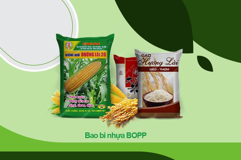 Bao bì nhựa BOPP có màu sắc ấn tượng, bắt mắt
