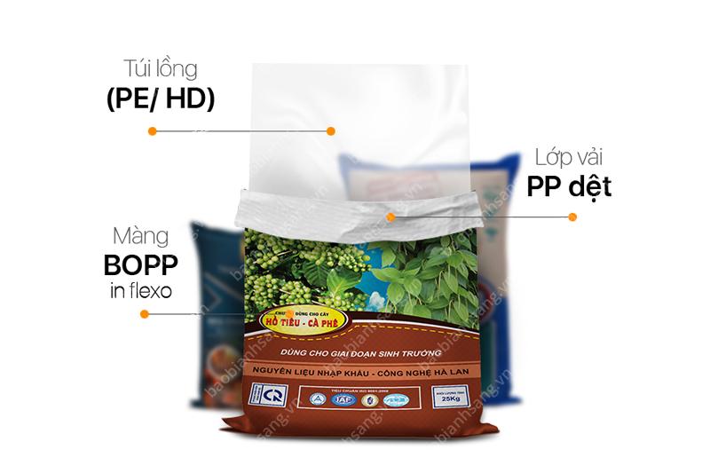Bao bì phân bón hữu cơ PP dệt của Bao Bì Ánh Sáng