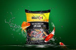 bao bì đựng thức ăn cho cá Koi
